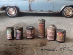 1958 MOTOR OIL Vintage / Handmade