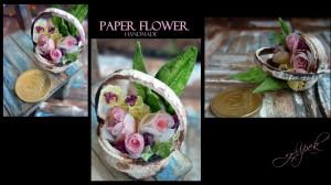 Çiçek sepeti.(Kağıt)