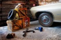 Garage /Dıorama 1967  Chevrolet Impala SS 1:18