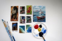 Miniature Canvas Paintings