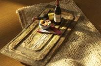 MINIATURE /Salmon Salad and Wine/Handmade