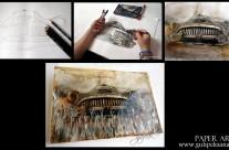 Art Resin /Drawing Car