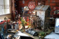 Diorama /Watermill  /Pickup  GMC 1950