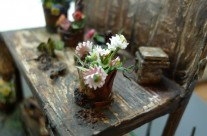 Flowers Miniature Diorama GARDEN ,Dollhouse