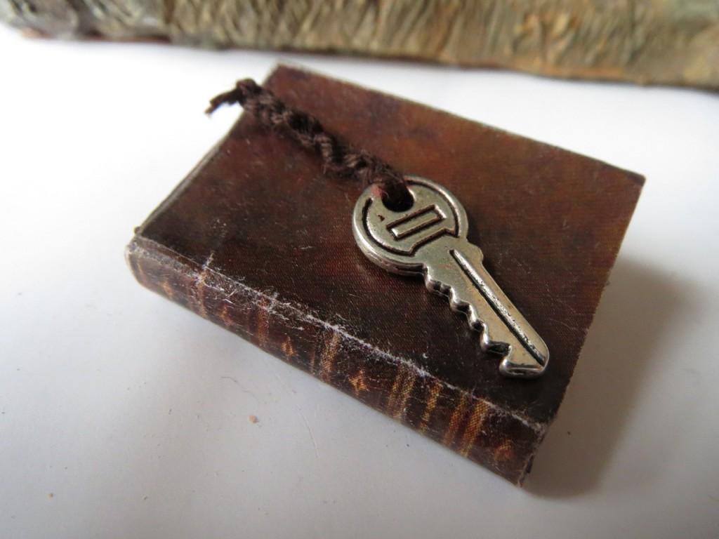 miniature old book /Gül ipek