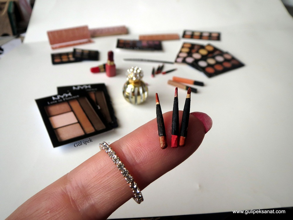 Miniature makeup products By  Gül ipek