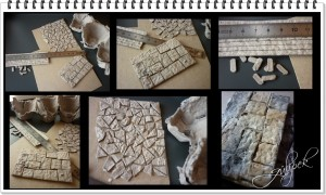 Mukavva ,duvar taş çalışması
