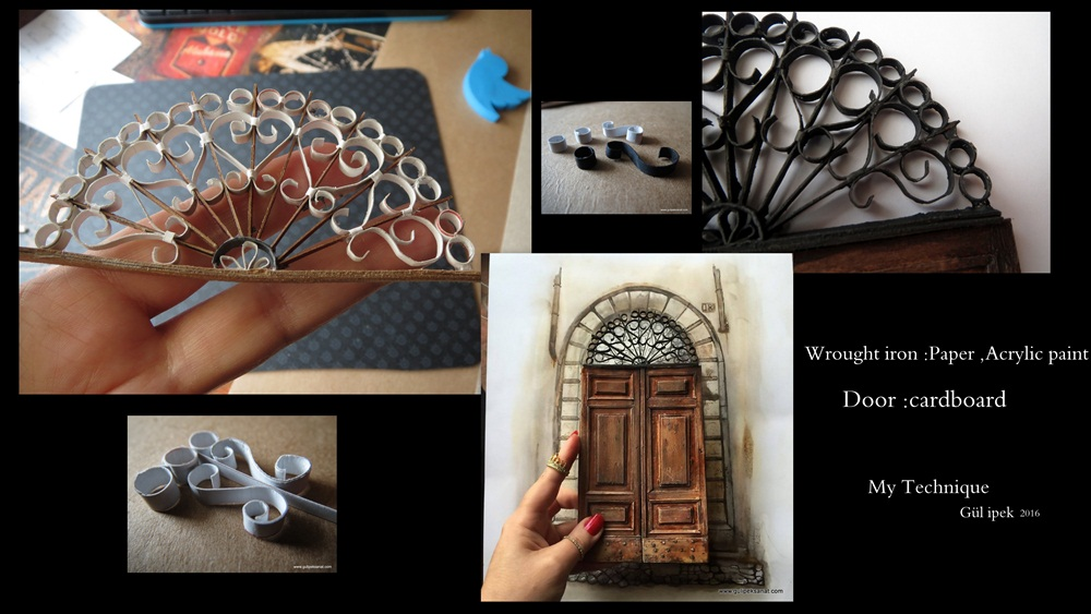 wrought iron Paper art By gül ipek www.gulipeksanat.com