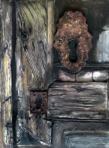 Eski ahşap kapı kilidi