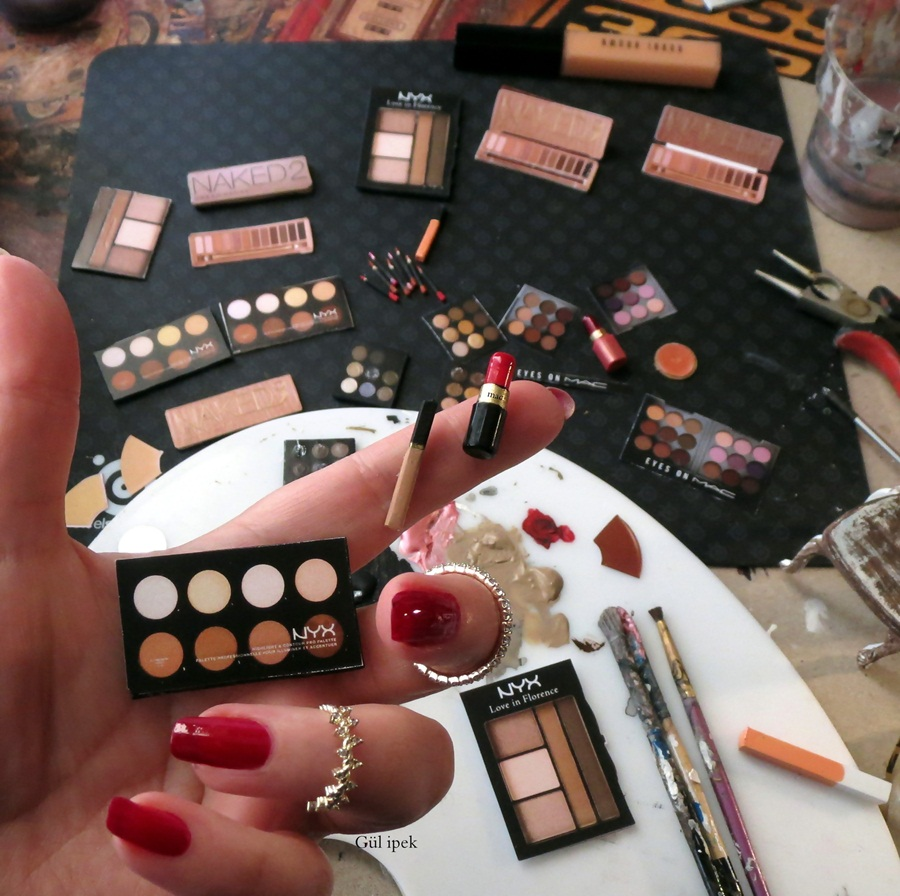 Miniature Makeup Products  By Gül ipek 2016