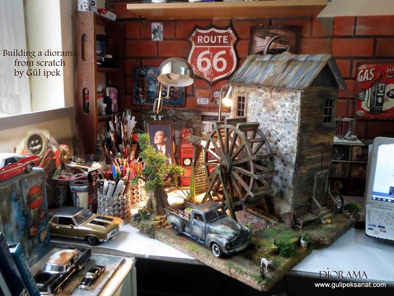 picku_diorama_how_chevy_auto_oto_gül_watermill